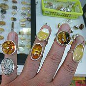 Подарки к праздникам ручной работы. Ярмарка Мастеров - ручная работа кольцо с янтарём. Handmade.
