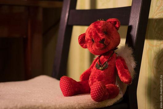 Мишки Тедди ручной работы. Ярмарка Мастеров - ручная работа. Купить Мишка тедди Ангел. Handmade. Ярко-красный, медвежонок