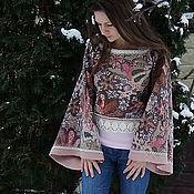 """Одежда ручной работы. Ярмарка Мастеров - ручная работа """"Sweater. Bolero. Kimono. Plaid."""" Розовый. Handmade."""