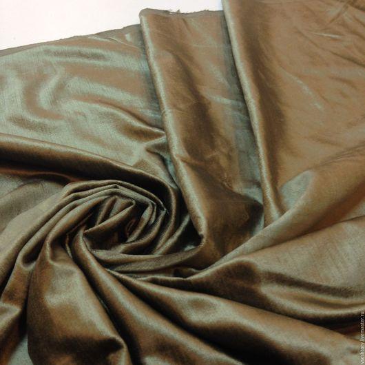"""Шитье ручной работы. Ярмарка Мастеров - ручная работа. Купить Ткань для штор бархат натуральный """"Олива"""". Handmade. Хаки, для дома"""