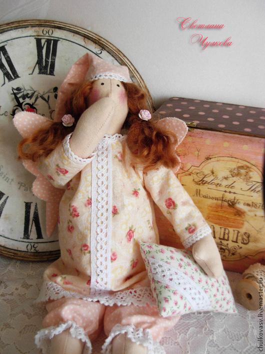 Куклы Тильды ручной работы. Ярмарка Мастеров - ручная работа. Купить Ангел добрых снов. Handmade. Розовый, ангел снов