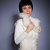 Одежда ручной работы. Ярмарка Мастеров - ручная работа Белый жилет с мехом альпаки. Handmade.