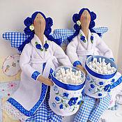 Куклы и игрушки ручной работы. Ярмарка Мастеров - ручная работа Банный ангел тильда,синий.. Handmade.