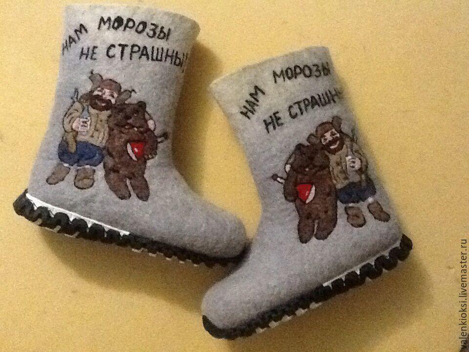 Boots mens ' Russian', Felt boots, Volgodonsk,  Фото №1
