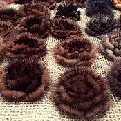 Украшения handmade. Livemaster - original item Brooch made of natural fur of mink