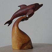 Для дома и интерьера ручной работы. Ярмарка Мастеров - ручная работа Дельфин из черемухи. Handmade.