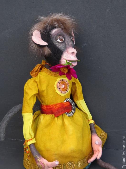 Куклы и игрушки ручной работы. Ярмарка Мастеров - ручная работа. Купить игрушка обезьянка Аджамбо. Handmade. Разноцветный, новый 2016 год