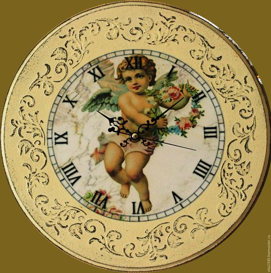 Часы для дома ручной работы. Ярмарка Мастеров - ручная работа. Купить Часы настенные. Handmade. Часы декупаж, комбинированный