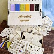 Куклы и игрушки handmade. Livemaster - original item Developing a house with a set of games 8 in 1. Handmade.