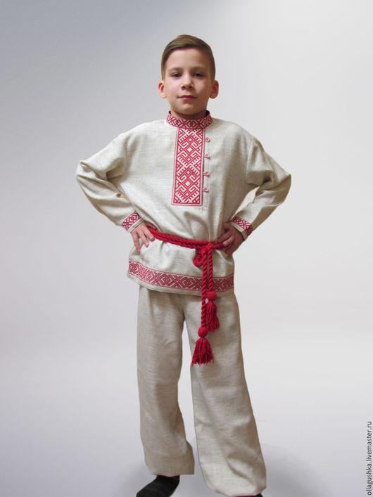 """Одежда ручной работы. Ярмарка Мастеров - ручная работа. Купить Рубаха и порты на мальчика """"Даждьбог"""". Handmade. Русский стиль"""