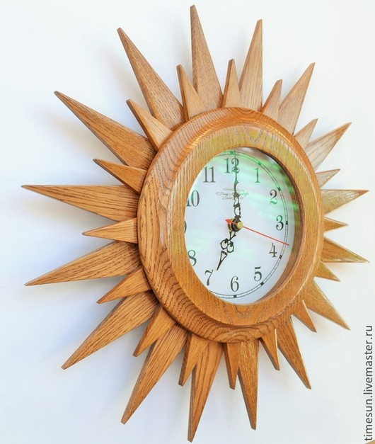 """Часы для дома ручной работы. Ярмарка Мастеров - ручная работа. Купить Часы настенные """"Звезда Солнце"""". Handmade. Часы, дерево"""