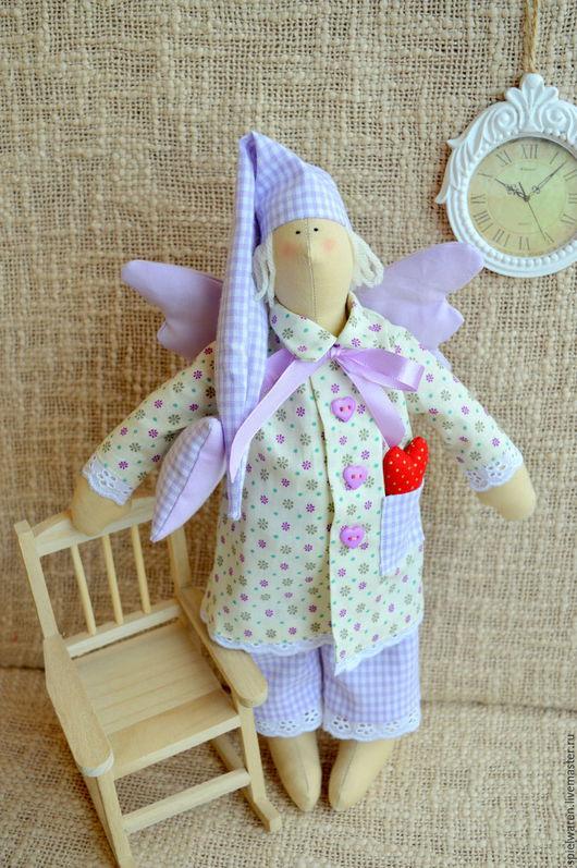 Куклы Тильды ручной работы. Ярмарка Мастеров - ручная работа. Купить Сонный ангел Тильда. Handmade. Бледно-сиреневый, тильда