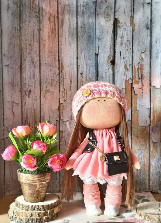 Коллекционные куклы ручной работы. Ярмарка Мастеров - ручная работа. Купить Настена. Handmade. Коралловый, кукла Тильда, интерьерная кукла