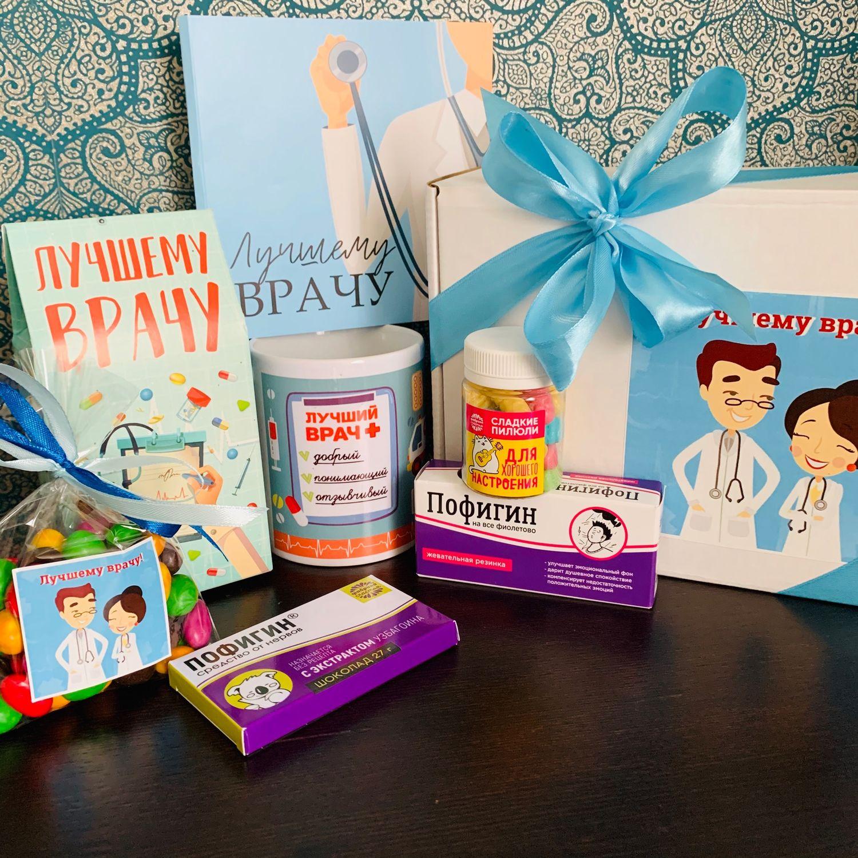 «Лучшему врачу» сладкий подарочный набор, Подарочные боксы, Москва,  Фото №1