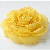 """Украшения ручной работы. Ярмарка Мастеров - ручная работа Брошь Цветок """"Желтая роза"""". Handmade."""