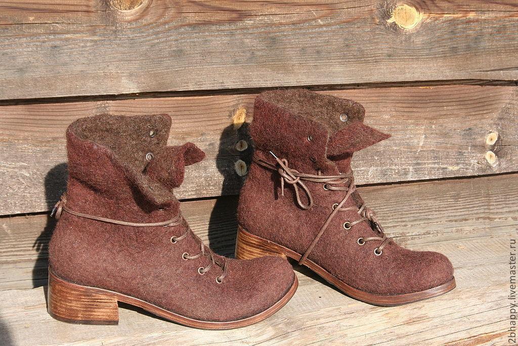 Валяные ботинки MARCELLA, Ботинки, Ялта,  Фото №1
