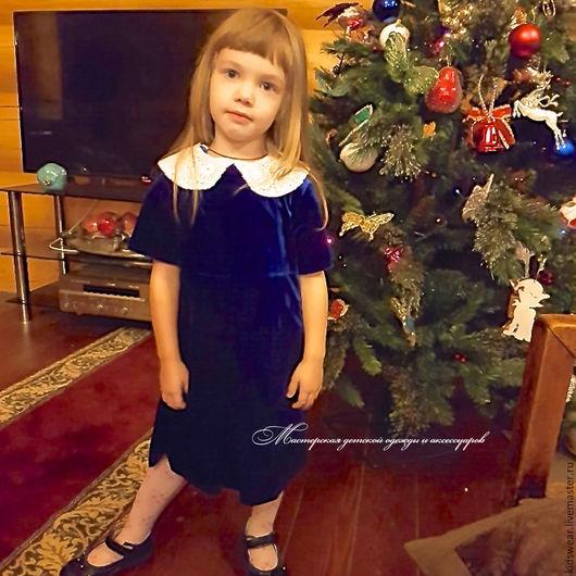 Одежда для девочек, ручной работы. Ярмарка Мастеров - ручная работа. Купить Платье «Сапфир». Handmade. Тёмно-синий, Синее платье