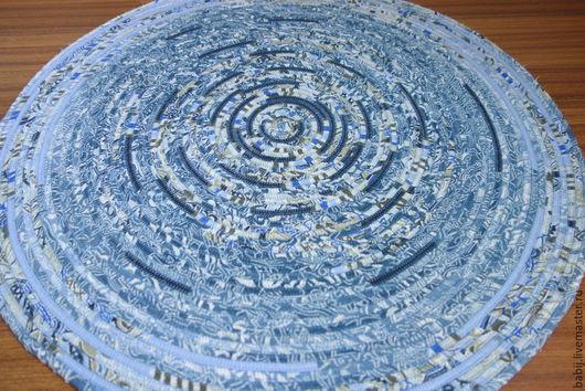 """Текстиль, ковры ручной работы. Ярмарка Мастеров - ручная работа. Купить Коврик """"Кружева"""". Handmade. Голубой, деревенский коврик"""