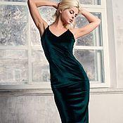 Платье комбинация из бархата