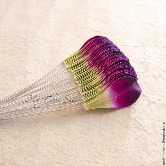 Бумажные лепестки, цветы для скрапбукинга, топиариев, флористических композиций. Все для флористики по выгодным ценам Май Тай