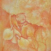Картины и панно ручной работы. Ярмарка Мастеров - ручная работа Капли света. Сказочная картина. Дриада.. Handmade.