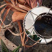handmade. Livemaster - original item Silver-plated Large Mirror Crescent (pl-007-02). Handmade.