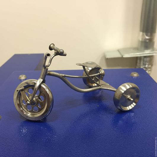 Миниатюрные модели ручной работы. Ярмарка Мастеров - ручная работа. Купить Модель трехколесного велосипеда. Handmade. Серебряный, велосипед