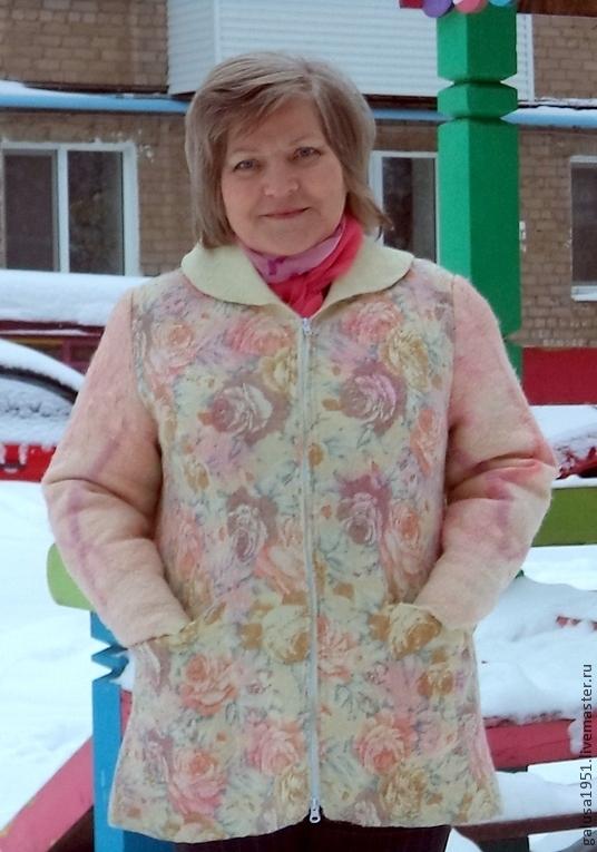 """Верхняя одежда ручной работы. Ярмарка Мастеров - ручная работа. Купить Куртка """" Розы"""". Handmade. Куртка, теплая куртка"""