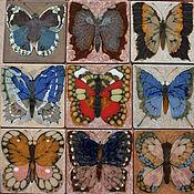 """Картины ручной работы. Ярмарка Мастеров - ручная работа Декоративное  составное панно  """"Бабочки в закате"""". Handmade."""