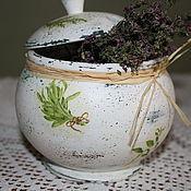 Для дома и интерьера ручной работы. Ярмарка Мастеров - ручная работа Горшочек для сухих трав. Handmade.