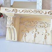 Полки ручной работы. Ярмарка Мастеров - ручная работа Полка-вешалка для прихожей в стиле Прованс, Шебби-шик. Handmade.