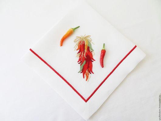 Салфетка с вышивкой `Чили`  `Шпулькин дом` мастерская вышивки