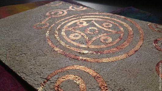 Декор поверхностей ручной работы. Ярмарка Мастеров - ручная работа. Купить Декоративная штукатурка поверхности стены с эффектом камня узор. Handmade.