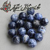 Материалы для творчества handmade. Livemaster - original item Sodalite bead, 10 mm (natural stone). Handmade.