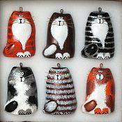 Подарки к праздникам handmade. Livemaster - original item Set of Christmas toys Cats. Handmade.