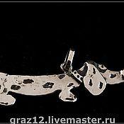Подвеска ручной работы. Ярмарка Мастеров - ручная работа Кулон собака маленькая. Handmade.