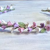 Украшения ручной работы. Ярмарка Мастеров - ручная работа Венок на голову с цветами сирени из полимерной глины. Handmade.