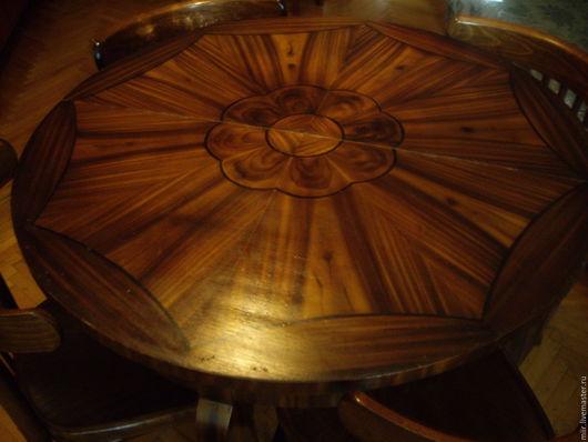 Винтажные предметы интерьера. Ярмарка Мастеров - ручная работа. Купить круглый стол. Handmade. Коричневый, дерево