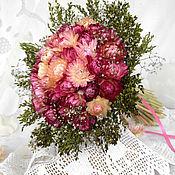 Цветы и флористика ручной работы. Ярмарка Мастеров - ручная работа «Розовое ассорти» букет из сухоцветов. Handmade.