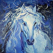 Картины и панно handmade. Livemaster - original item Oil painting on canvas. Horse Happiness.. Handmade.
