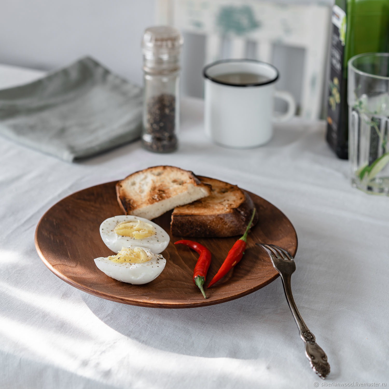 Деревянная тарелка из Сибирского Кедра 240 мм T146, Тарелки, Новокузнецк,  Фото №1