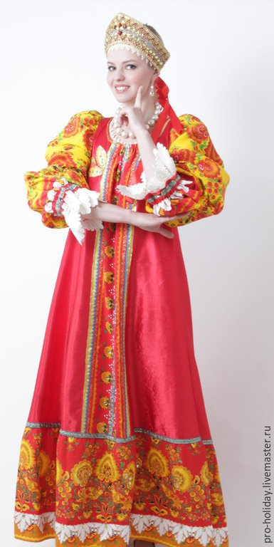 Русский народный женский костюм своими руками