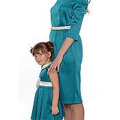 """Одежда ручной работы. Ярмарка Мастеров - ручная работа Платья для мамы и дочки """"Нежность"""", комплект. Handmade."""
