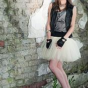 """Одежда ручной работы. Ярмарка Мастеров - ручная работа """"Rock You!"""" юбка из матового фатина ( пачка), мятный, кремовый .... Handmade."""