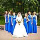 Платья ручной работы. Платья-трансформеры для подружек невесты синий электрик. Dudu-dress. Интернет-магазин Ярмарка Мастеров. Однотонный