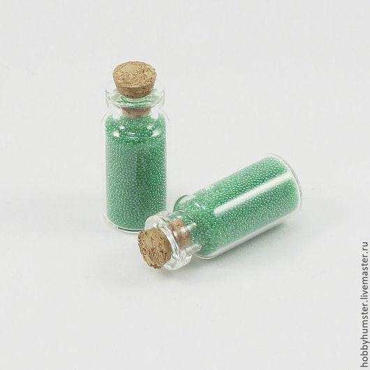 Для украшений ручной работы. Ярмарка Мастеров - ручная работа. Купить Бутылочки-мини стеклянные. Handmade. Бутылка, бутылочка-подвеска