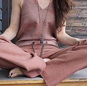 Одежда ручной работы. Ярмарка Мастеров - ручная работа Валяный брючный комбинезон. Нынче модный оверсайз.. Handmade.