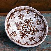 Посуда ручной работы. Ярмарка Мастеров - ручная работа Блюдце керамическое Вепсские мотивы. Handmade.