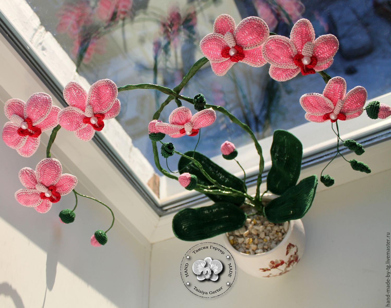 Орхидея связанная крючком схема фото 136