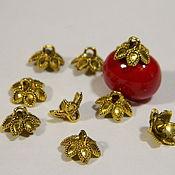 Материалы для творчества handmade. Livemaster - original item Caps for gluing beads 10 mm pcs. Handmade.